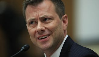 "FBI Deputy Assistant Director Peter Strzok, testifies before a House Judiciary Committee joint hearing on ""oversight of FBI and Department of Justice actions surrounding the 2016 election"" on Capitol Hill in Washington, Thursday, July 12. (AP Photo/Manuel Balce Ceneta) ** FILE **"