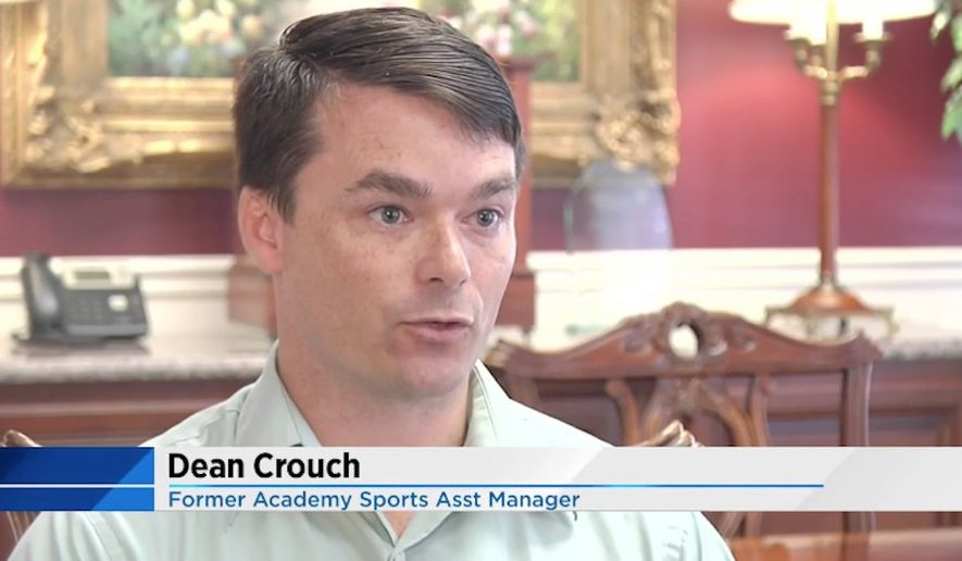 Dean Crouch, the assistant manager of an Academy Sports store in Florida, was fired this week after he tackled a man who allegedly stole a handgun and threatened to shoot people. (WCTV)