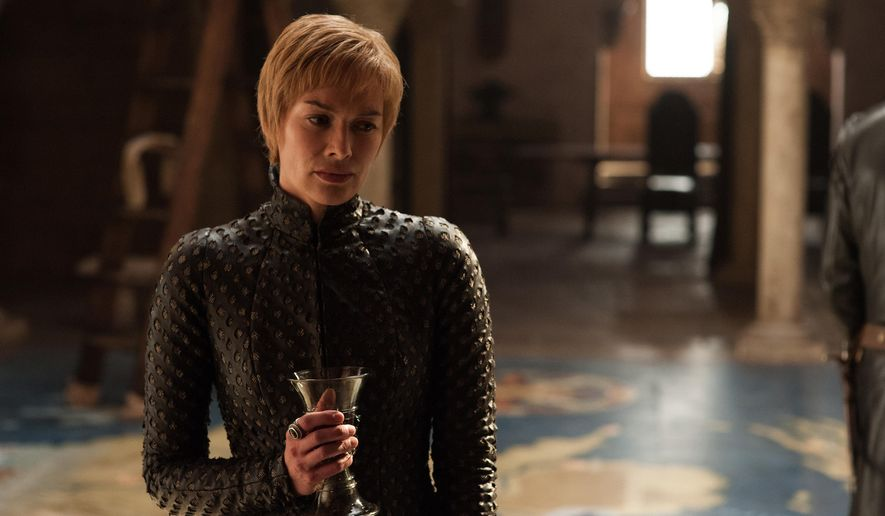 "This image released by HBO shows Lena Headey in a scene from ""Game of Thrones."" Headey was nominated Thursday for an Emmy for outstanding supporting actress in a drama series. The 70th Emmy Awards will be held on Monday, Sept. 17.  (HBO via AP)"