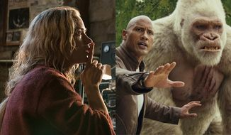 "Emily Blunt co-stars in ""A Quiet Place"" and Dwayne Johnson works with his pal George the gorilla in ""Rampage,"" both available on 4K Ultra HD."