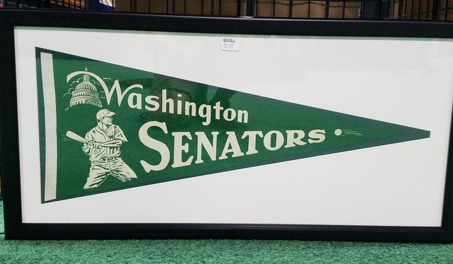 A Washington Senators pennant on display at 2018 MLB All-Star FanFest at Walter E. Washington Convention Center in Washington, D.C. on Friday, July 13, 2018. (Photo by Adam Zielonka / The Washington Times)