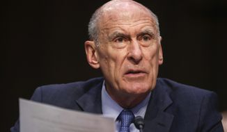 In this March 6, 2018, file photo, Director of National Intelligence Dan Coats testifies before the Senate Armed Services Committee on Capitol Hill in Washington. (AP Photo/Pablo Martinez Monsivais, File)