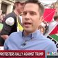 "MSNBC correspondent Cal Perry notes the ""courageous"" nature of U.K. citizens who showed up to protest President Trump in London, July 13, 2018. (Image: MSNBC screenshot) ** FILE **"