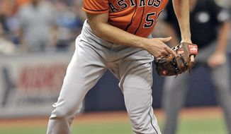 Houston Astros starter Charlie Morton pitches against the Tampa Bay Rays during the fourth inning of a baseball game Sunday, July 1, 2018, in St. Petersburg, Fla. (AP Photo/Steve Nesius)