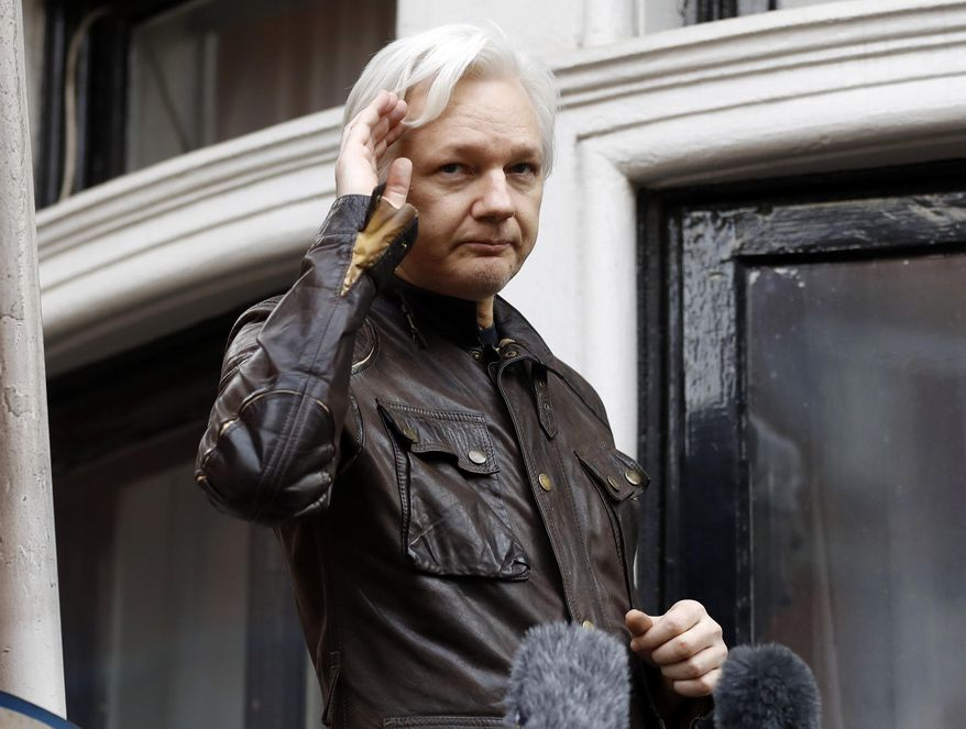 Julian Assange could soon be leaving the Ecuadorean Embassy in London to face criminal charges abroad related to his role running WikiLeaks. (Associated Press/File)
