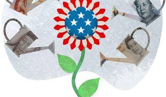 EB5 Program Working Illustration by Greg Groesch/The Washington Times