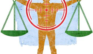 Conflicts of Law Illustration by Greg Groesch/The Washington Times