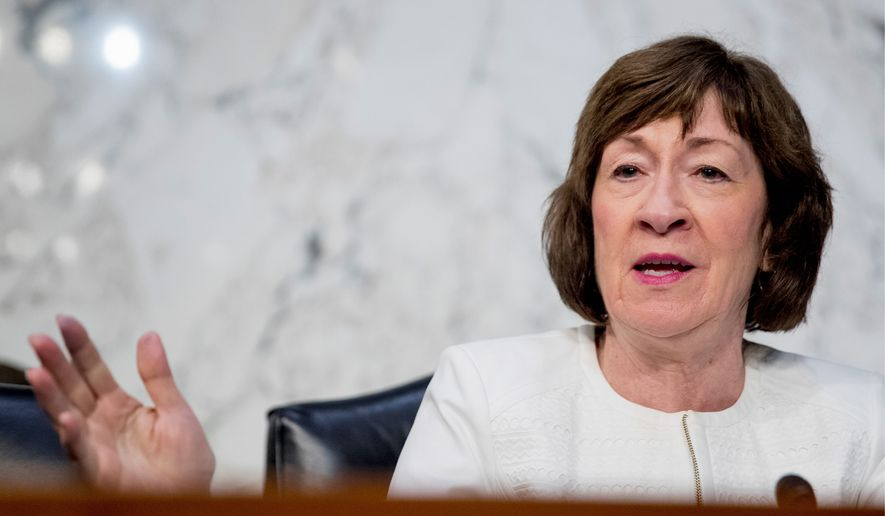 """It's so counterintuitive to think that paying out of pocket is going to be cheaper than using your insurance,"" Sen. Susan Collins said. ""Using your debit card is going to be cheaper than using your insurance card?"" (Associated Press)"