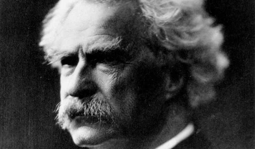 This is an undated photo of author Samuel Clemens, better known by his pen-name Mark Twain.  (AP Photo)
