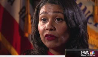 San Francisco Mayor London Breed talks about the city's homeless problem during a sit-down interview, July 13, 2018. (Image: NBC Bay Area screenshot)