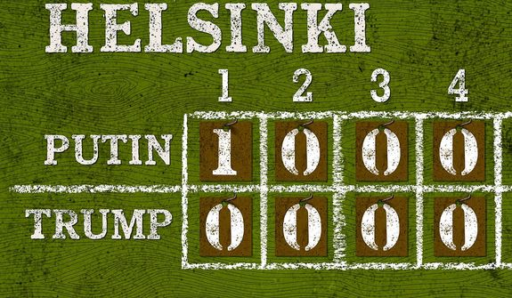 Helsinki Scoreboard Illustration by Greg Groesch/The Washington Times