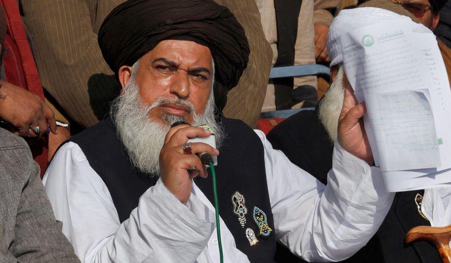 Politics  C B Pakistan  C B Head Of The Radical Religious Party Tehreek I Labaik Ya Rasool Allah