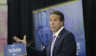 New York Gov. Andrew Cuomo speaks at an event in the Brownsville section of Brooklyn in New York, Thursday, July 5, 2018. (AP Photo/Seth Wenig) ** FILE **