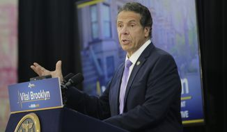 New York Governor Andrew Cuomo speaks at an event in the Brownsville section of Brooklyn in New York, Thursday, July 5, 2018. Cuomo is directing the state university system to continue policies that promote racial diversity among students after the Trump administration said the federal government will let schools leave race out of admission decisions. (AP Photo/Seth Wenig)