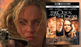 "Sharon Stone co-stars in ""The Quick and the Dead,"" now available on 4K Ultra HD from Soy Pictures Home Entertainment."