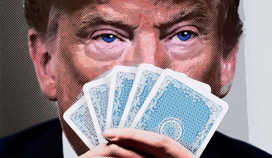 Shrewd Card Player Illustration by Greg Groesch/The Washington Times