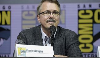 "Vince Gilligan attends the ""Better Call Saul"" panel on day one of Comic-Con International on Thursday, July 19, 2018, in San Diego.(Photo by Richard Shotwell/Invision/AP)"