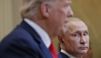The report was released just three days after President Trump's summit with Russian President Vladimir Putin and nearly a week after Deputy Attorney General Rod Rosenstein announced the indictment of 12 Russians accused of election meddling. (Associated Press)