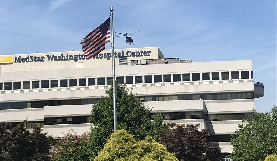 Police were investigating to see if there was an active shooter at MedStar Washington Hospital Center on Thursday, July 19, 2018. (The Washington Times/Adam Sabes