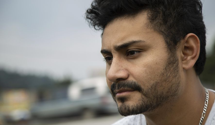 Bernardo Reyes Rodriguez poses for a portrait in La Marquesa, Mexico, Saturday, June 30, 2018. Rodriguez is looking for answers after being arrested by immigration officers whilst pending review for a U visa for him and his wife.  Under past presidents, people who were here illegally but qualify for a U visa were usually allowed to wait stateside until their petition was approved. But now ramped-up immigration enforcement has meant that some of them are getting swept up by U.S. Immigration and Customs Enforcement before they have a chance to legalize.  (AP Photo/Anthony Vazquez)