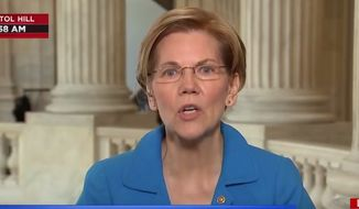 Massachusetts Sen. Elizabeth Warren discusses free markets and the Trump administration while on MSNBC, July 20, 2018. (Image: MSNBC screenshot)