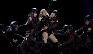 Singer Taylor Swift performs during her Reputation tour at MetLife Stadium on Friday, July 20, 2018, in East Rutherford, N.J. (Photo by Evan Agostini/Invision/AP)