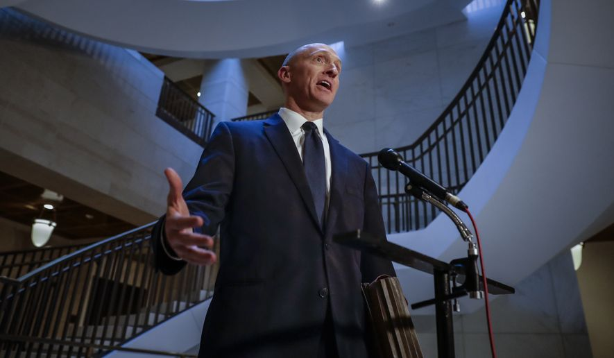 Carter Page, a foreign policy adviser to Donald Trump's 2016 presidential campaign, lived in Moscow as an energy investor in the 2000s and has a string of contacts with Russian businesspeople. (Associated Press/File)