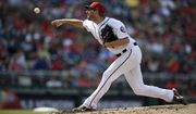 Washington Nationals starting pitcher Max Scherzer delivers during the fourth inning of a baseball game against the Atlanta Braves, Sunday, July 22, 2018, in Washington. (AP Photo/Nick Wass)