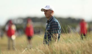 Jordan Spieth of the US during the final round of the British Open Golf Championship in Carnoustie, Scotland, Sunday July 22, 2018. (AP Photo/Jon Super)