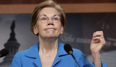 The addresses the Democrats registered included the names of Sens. Bob Casey, D-Pa.; Claire McCaskill, D-Mo.; King; Elizabeth Warren, D-Mass. (pictured); Ted Cruz, R-Texas; Heidi Heitkamp, D-N.D.; Bernie Sanders, I-Vt.; Roger Wicker, R-Miss. and Dean Heller, R-Nev. (Associated Press)