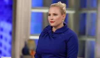 "Meghan McCain sits on the set of ""The View"" in New York. (Heidi Gutman/ABC via AP) ** FILE **"