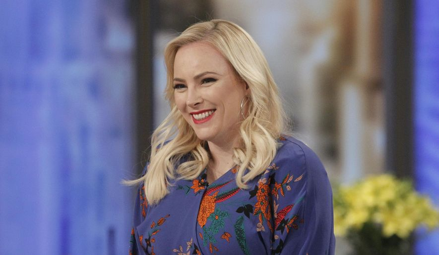 """This Feb. 28, 2018 photo released by ABC shows Meghan McCain on the set of """"The View,"""" in New York.  McCain brings a feisty spirit to the conservative commentator role where predecessors frequently seemed overmatched and overlooked. She often reflects the views of President Trump's supporters at a table and city where they are deeply unpopular. (Lou Rocco/ABC via AP)"""