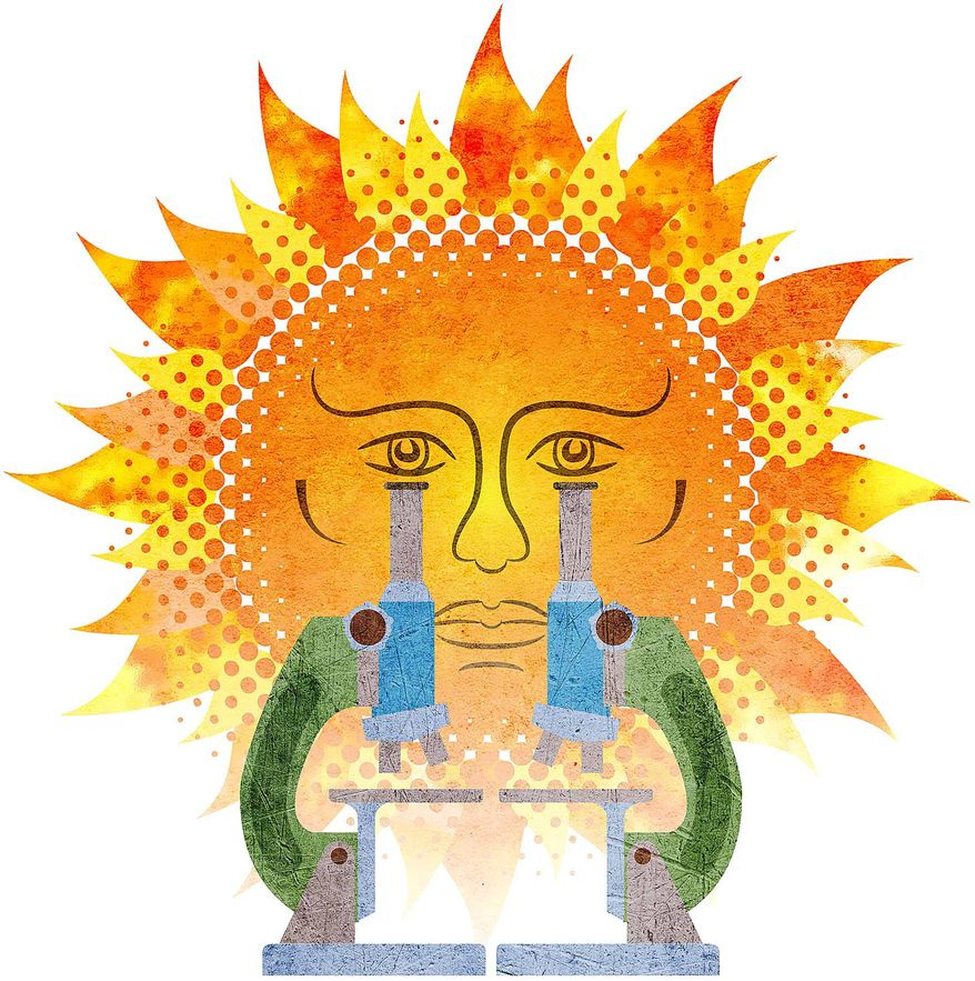 Sunlight on the Research Illustration by Greg Groesch/The Washington Times