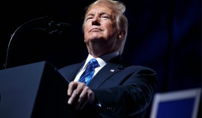 """We do not seek conflict, but if conflict is forced upon us, we will defend ourselves if we must, we will fight and we will do nothing but win,"" said President Trump during a speech at the Veterans of Foreign Wars of the United States National Convention."