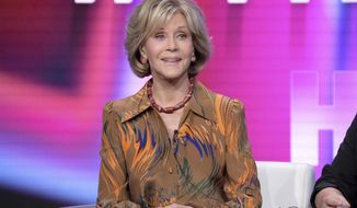 """Jane Fonda speaks during the """"Jane Fonda in Five Acts"""" panel during the HBO Television Critics Association Summer Press Tour at The Beverly Hilton hotel on Wednesday, July 25, 2018, in Beverly Hills, Calif. (Photo by Richard Shotwell/Invision/AP)"""