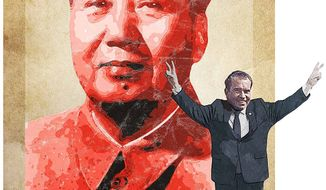 The Nixon China Visit Illustration by Greg Groesch/The Washington Times