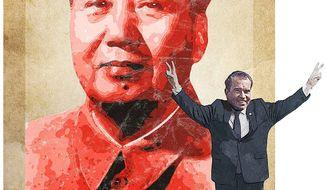The Nixon China Visit Illustration by Greg Groesch/The Washington Times
