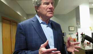 """FILE - In this May 9, 2018, file photo, Wisconsin Democratic gubernatorial candidate Matt Flynn speaks to reporters in Madison, Wis. Gov. Scott Walker on Wednesday, July 25, 2018, tweeted a call for Flynn to drop out of the race, joining with two Democratic state lawmakers, victims of priest abuse and the Wisconsin Republican Party. Walker said his """"actions disqualify him from serving."""" (AP Photo/Scott Bauer, File)"""