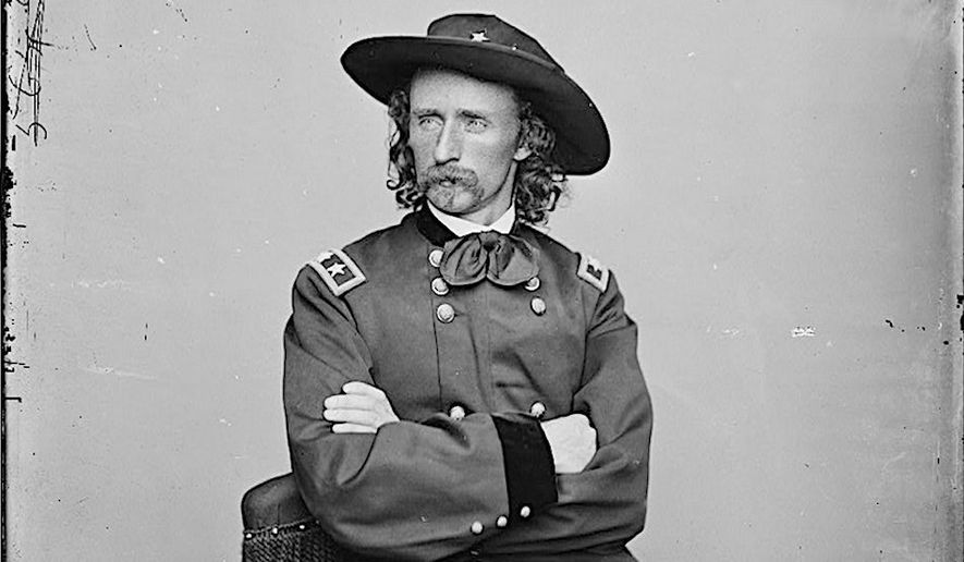 "Major General George Armstrong Custer, shown here in May, 1865. He was best man for Confederate Capt. John ""Gimlet"" Lea's wedding. (Library of Congress)"