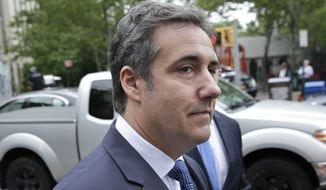 In this May 30, 2018, file photo, attorney Michael Cohen arrives to court in New York. Over 12,000 files seized from President Donald Trump's former lawyer, Cohen, cannot be turned over to prosecutors probing Cohen's business interests because they are subject to attorney-client privilege, his lawyers said Monday, June 25. (AP Photo/Seth Wenig, File)