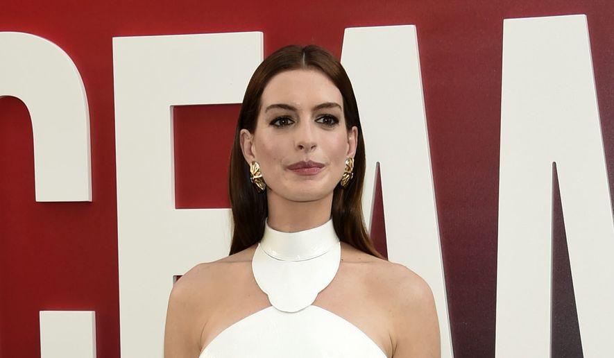 "In this June 5, 2018 ,file photo, actress Anne Hathaway attends the world premiere of ""Ocean's 8"" in New York. (Photo by Evan Agostini/Invision/AP, File)"