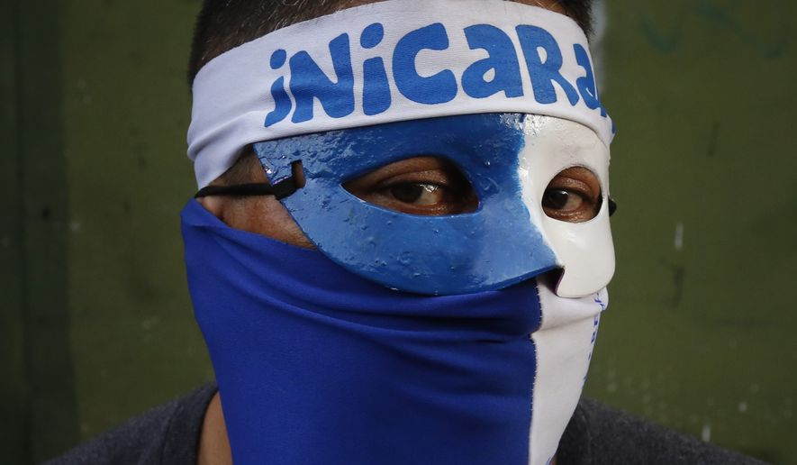 "Anti-government demonstrators in Nicaragua have been branded by President Daniel Ortega as ""terrorists"" and ""vandals."" (Associated Press/File)"