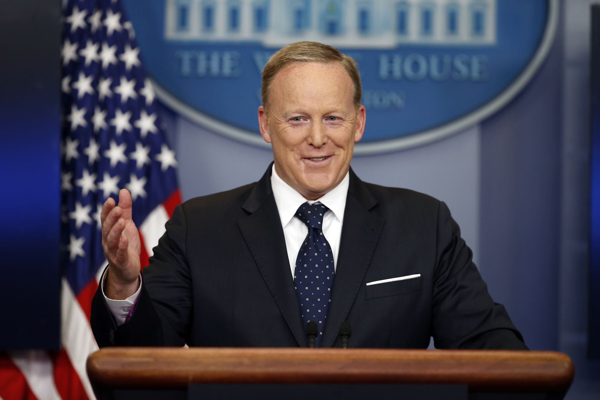 Spicer blames antics of 'B-rate' journalists for lack of White House press briefings