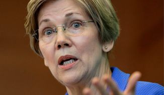 Sen. Elizabeth Warren. (Associated Press) ** FILE **