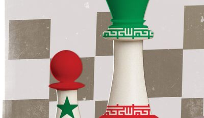 Illustration on strategies for the future of Syria by Linas Garsys/The Washington Times