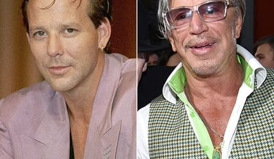 Actor and former ameteur boxer Mickey Rourke
