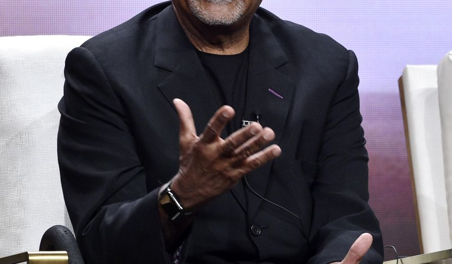"Henry Louis Gates Jr., host and executive producer of ""Finding Your Roots with Henry Louis Gates Jr.,"" takes part in a panel discussion on the show during the 2018 Television Critics Association Summer Press Tour at the Beverly Hilton, Tuesday, July 31, 2018, in Beverly Hills, Calif. (Photo by Chris Pizzello/Invision/AP)"
