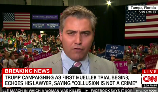 CNN's Jim Acosta is heckled by a crowd of President Trump's supporters in Tampa, Florida, on July 31, 2018. (Image: CNN screenshot)
