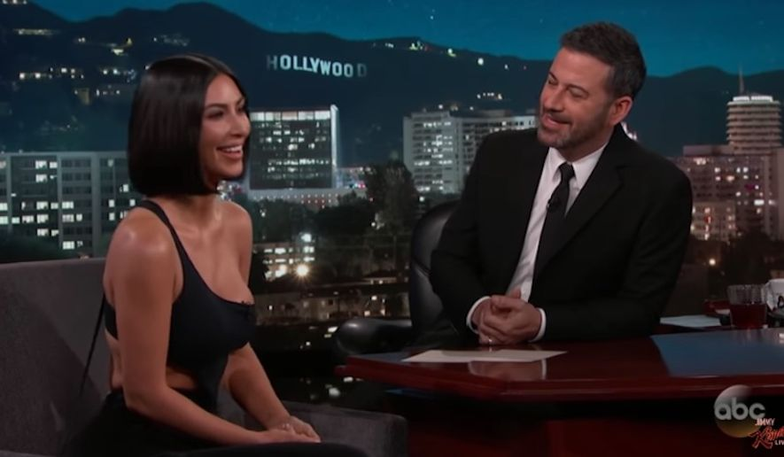 """Kim Kardashian West said on """"Jimmy Kimmel Live!"""" Monday night that she only had good things to say about President Trump after he granted her request to pardon 63-year-old Alice Marie Johnson. (ABC)"""