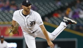 Detroit Tigers pitcher Matthew Boyd throws to a Cincinnati Reds batter during the second inning of a baseball game in Detroit, Tuesday, July 31, 2018. (AP Photo/Paul Sancya)